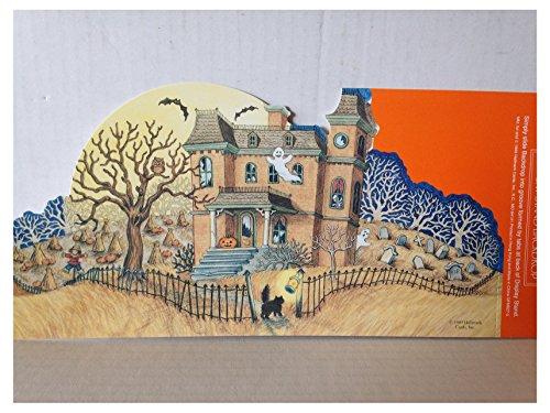 Hallmark Merry Miniature Haunted Halloween House Backdrop Display -