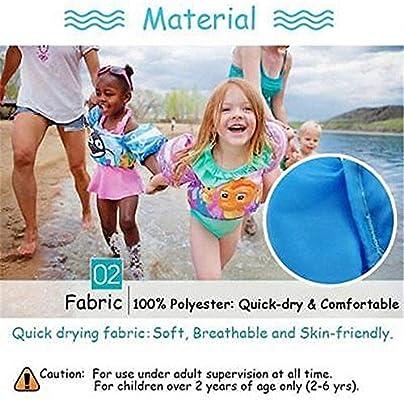 QYS Chaleco Flotante de natación para niños, brazaletes para bebés ...