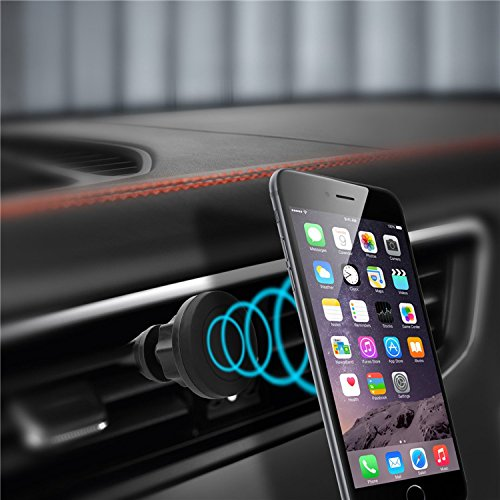 Universal Easy Magnetic Car Air Vent Mount No Damage Sticky Stand Mobile Phone Holder For iPhone 6 6s Samsung S6 Huawei Xiaom