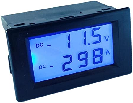 Battery Monitor DC 200V100A Voltmeter Ammete AMP Power AH Battery Voltage Gauge