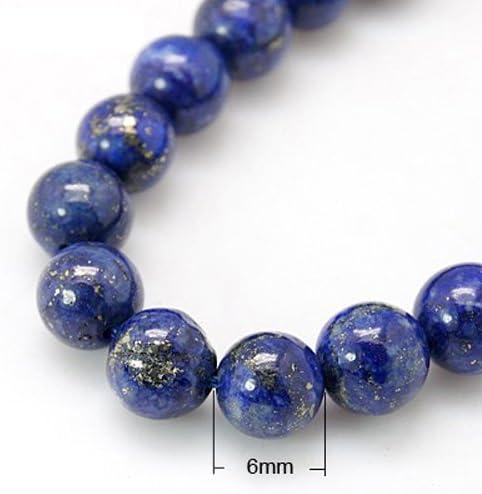 Lapis-lazuli brins de perles naturels ronde bleu 4//6//8mm