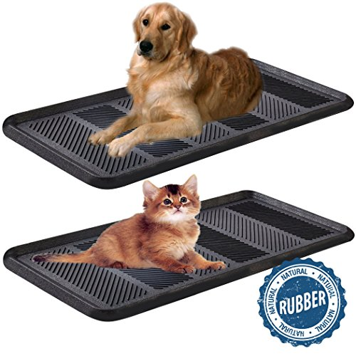 SafetyCare Heavy Duty Flexible Rubber Boot Tray Door Mat - 32 x 16 Inches - 2 Mats by SafetyCare (Image #9)
