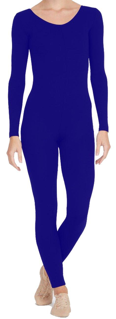 DanceNwear Men's Long Sleeve, Scoop Neck, Footless Unitard (Cotton/Lycra) by DanceNwear