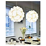 Beautiful Modern Bright White Ceiling Pendant Bedroom Chandelier Light Lamp Shade Pretty light fitting (30cm)