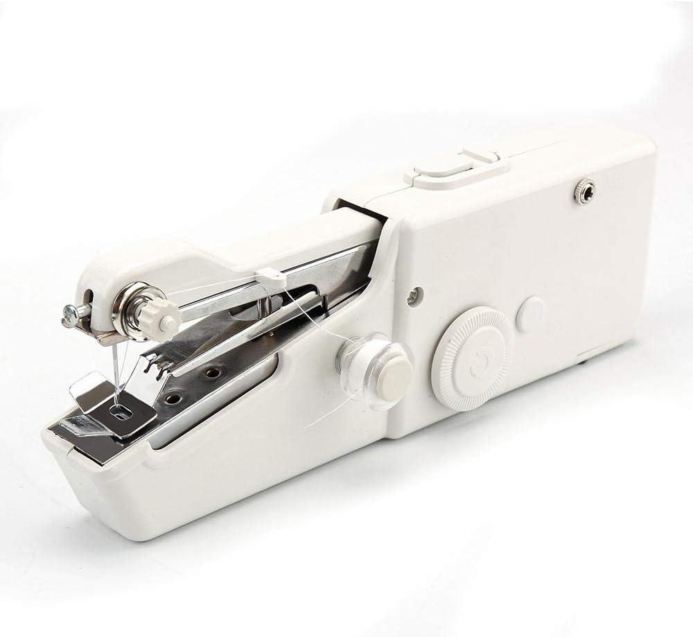 yhsndy maquina coser,maquina coser portatil Mini portátil de mano máquina de coser costura ropa máquina de coser costura herramienta de bricolaje