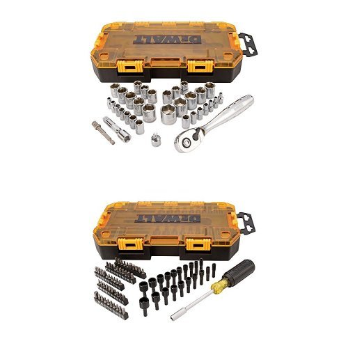 DWMT73808 Tough Box Multi-Bit & Nut Driver Set (70 Piece), 1/4