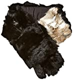 RUDSAK Women's Sinclair Fur Collar Scarf, Black, One Size