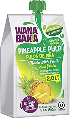 WanaBana Premium Puré Piña - 100% Puré/Pulpa/Zumo de Fruta - 500 ...