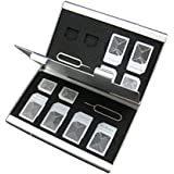 Bandc 14 Slots Aluminum Box Storage Case for Micro Sim/sim Card/needle/nano SIM Card
