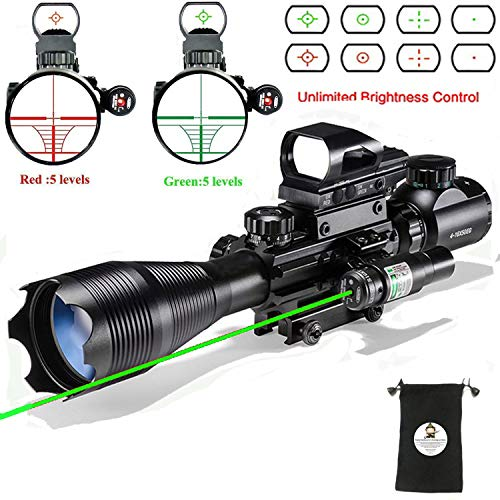 Scope Combo 4-16x50EG with 4 Holographic Red&Green Dot Sight