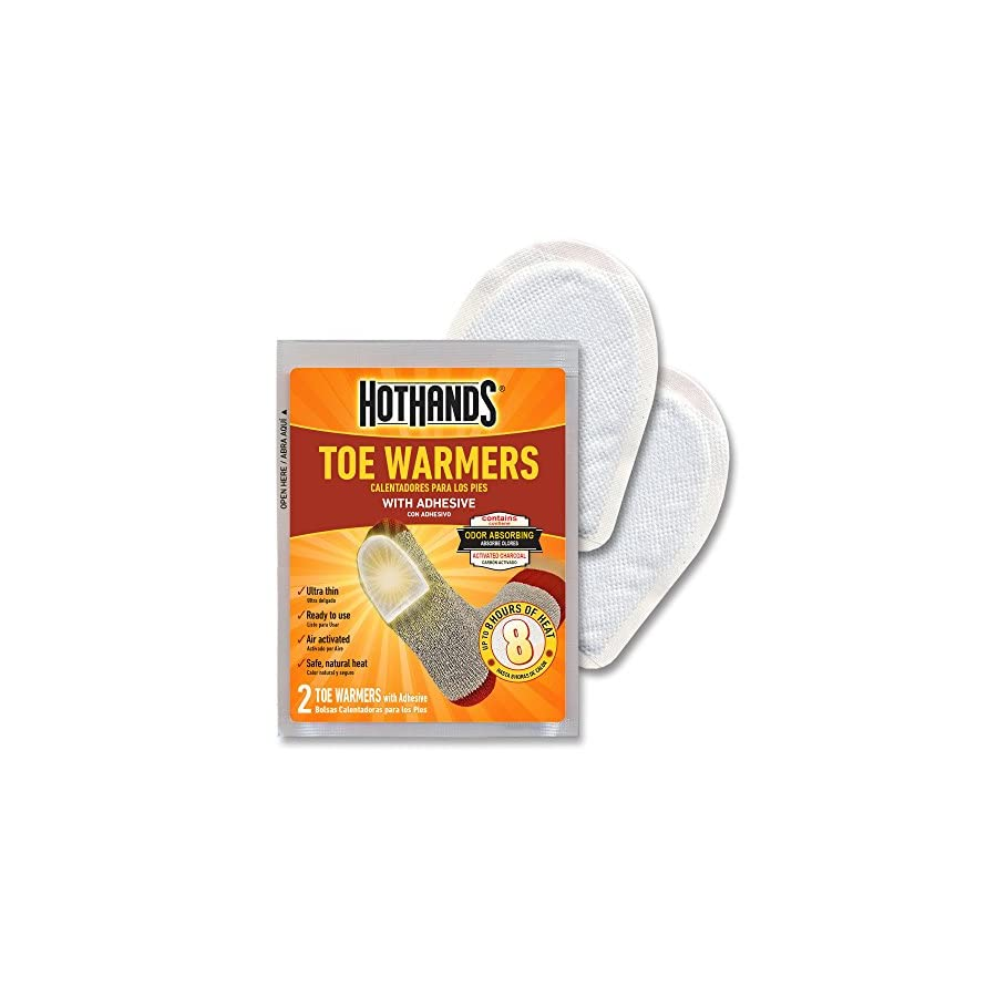 HotHands Toe Warmers Long Lasting Safe Natural Odorless Air Activated Warmers Up to 8 Hours of Heat 72 Pair