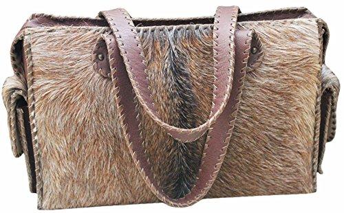 11sunshop BAG-EBENA - Bolso de asas para mujer Marrón marrón M