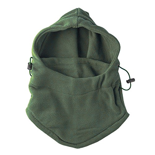Fleece Windproof Ski Face Mask Balaclavas Hood by Super Z Outlet (Olive Green),One Size