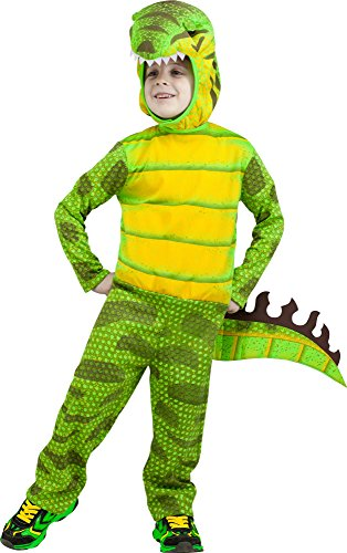 Fun World Costumes Baby Boy's T-Rex Toddler Costume, Green, Large]()