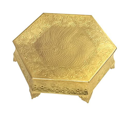 "GiftBay Creations CSG74516HEX Wedding Cake Stand Hexagonal Shape 16""x16"", Gold, 16"" X 16"" Hexangonal"
