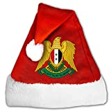 ODLS7 Coat Of Arms Of Syria Christmas Gifts Hats Santa Hats Fashion Holiday Home Party Decorations For Kids Adult