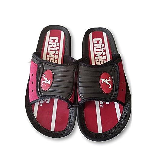 Alabama Crimson Tide Men's Roll Tide Roll Shower Shoes
