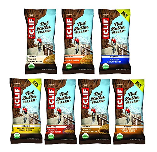 CLIF Nut Butter Filled - Organic Energy Bar - Sampler Variety Pack - (1.76 Ounce Protein Snack Bar, 7 flavors, 2 bars each,14 Count)