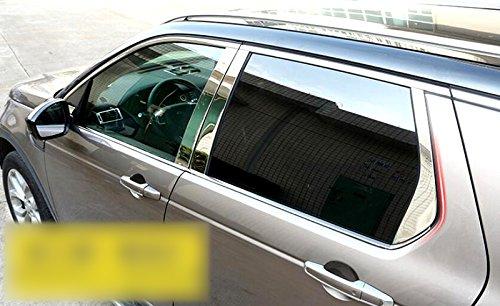 Umbral de la ventana completa marco en acero inoxidable con centro Pilar, 22 piezas para coche accesorios: Amazon.es: Coche y moto