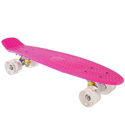 WWZL Pink Skateboard Completely Skateboarding Pattern, Skateboard Adult Teenage Skateboard /56CM : Sports & Outdoors [5Bkhe1800871]