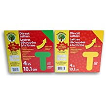 Teaching Tree Die Cut Letters and Numbers Set - Green and Yellow