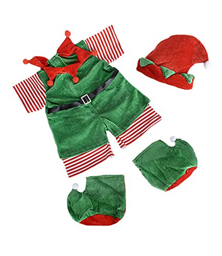 Christmas Elf with Hat, Scarf,and Boots Outfit