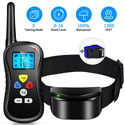 Patpet Vibration Collar with Remote, Pro [All-New 2019] Pts-018 Dog Training Collar, IPX7...