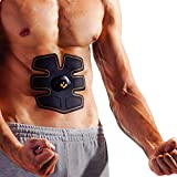 electronic abdominal machine - Abdominal Muscle Toner, Ikeepi Abs Trainer Ab Toning Belt Wirelss Muscle Exercise Unisex Fitness Training Gear Lazy Loss Weight Exercise Massager for Men and Women Home Office Workout Complement