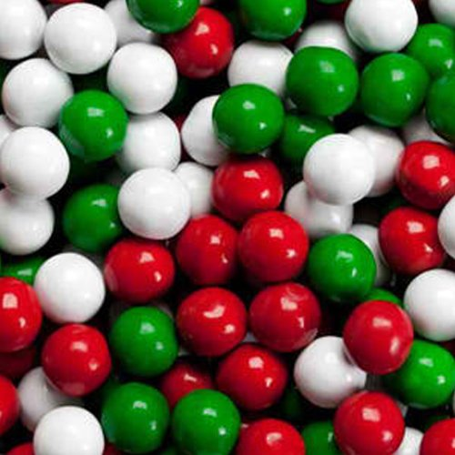 Christmas Sixlets Mini Milk Chocolate Balls 1LB Bag (Balls Mini Chocolate)