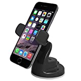 iOttie Easy View 2 Car Mount Holder for iPhone 7 7 Plus, 6s Plus 6s 5s 5c, Samsung Galaxy S7 Edge Plus S7 S6, Note 7 5 -Retail Packaging –Black