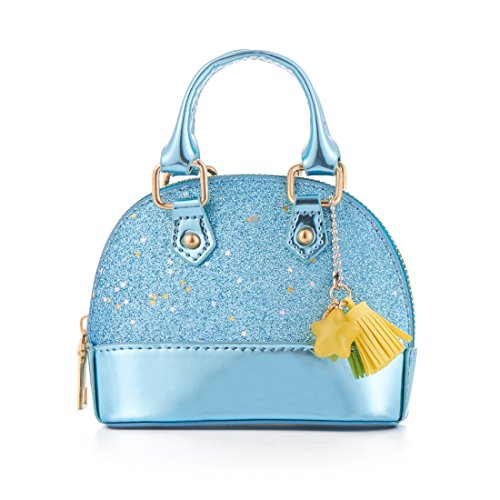 Handbag Girls Purse (Princesstype Little Girls Mini Satchel Crossbody Bag Wallet Shell Shape Purse Handbags for Toddler Tote (Blue))