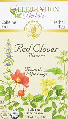 Celebration Herbals Tea Loosepack Herbal Organic Red Clover Blossoms — 25 g For Sale