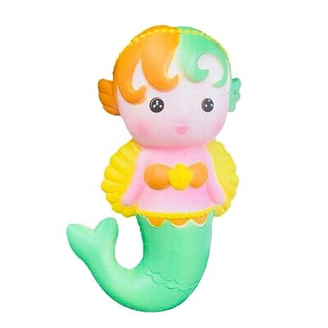 Angel Mermaid Slow Rising Stress Relief Toys Regalo De Juguete para Niños Cocinitas Montessori Guardar Coches