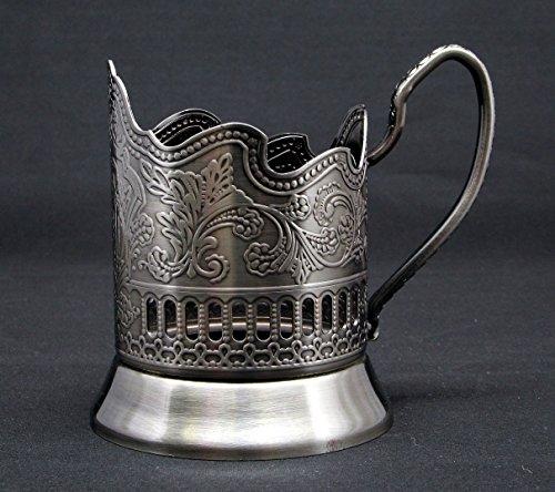 Podstakannik Russian Metal Glass Holder for Hot Tea/Coffe...