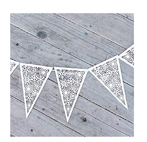 - JANOU Snowflake Paper Garland Hanging Banner for Christmas Wedding Birthday Party Decoration