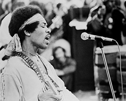 Jimi Hendrix Canvas - Jimi Hendrix Performing On Stage At Woodstock 1969 16X20 Canvas Giclee