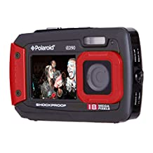 Polaroid IE090-Red Waterproof Digital Camera with 2.7-Inch LCD, Red