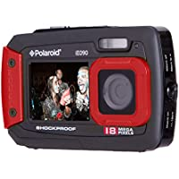 Polaroid IE090-RED Waterproof Digital Camera with 2.7 LCD (Red)