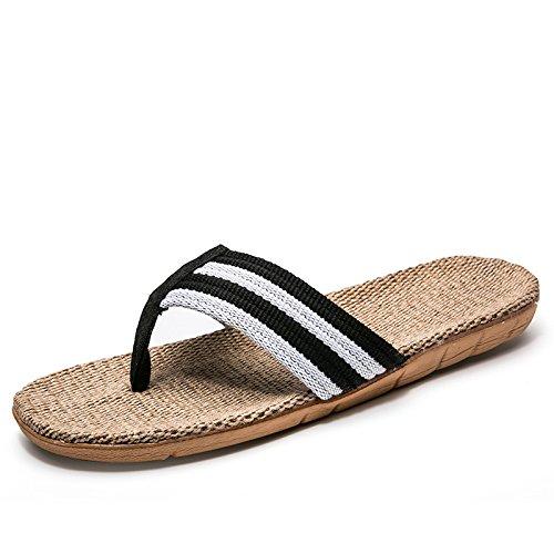 bianco campi vento Cina fankou a estate nel il pantofole sisal rimanere legno il fresco In 44 morbido e pavimento donne in in e dei e uomini le pantofole nero pavimento in gli qCqFOPwr