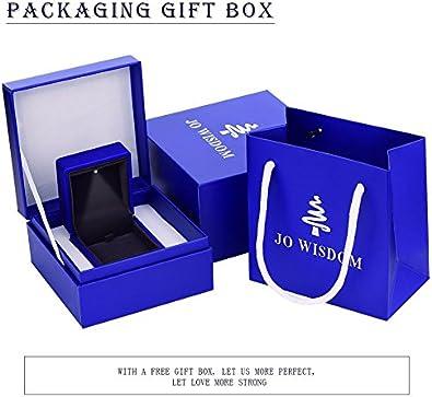 JO WISDOM 10K White Gold Diamond Moissanite Infinity Leverback Dangling Drop Earrings