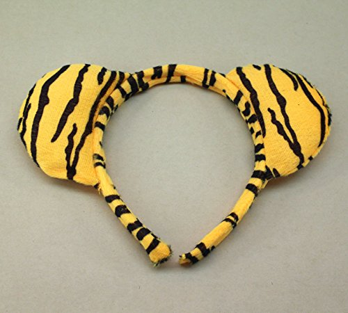 Cute Animal Ears Headband Kids Party Monkey Mouse Spotted Dog Giraffe a Lot A390 (5PCS-2#TIGER)