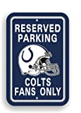 NFL Indianapolis Colts Plastic Parking Sign