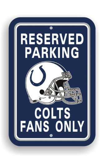 Sign Indianapolis Colts Street - Fremont Die NFL Indianapolis Colts Plastic Parking Sign