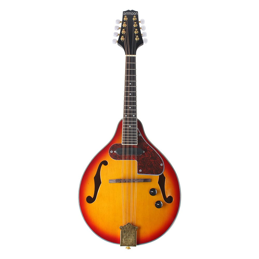 ammoon Adjustable 8-String Fingerboard Instrument Electric A Style Mandolin Rosewood with Cable Strings Cleaning Cloth 1