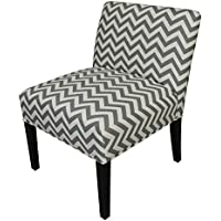 SOLE Designs Chloe Collection Armless Living Room Accent Chair / Upholstered Slipper Chair