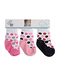 Tender Toes Baby and Toddler's Fun Cute Colorful Socks Assorted Pack of 3
