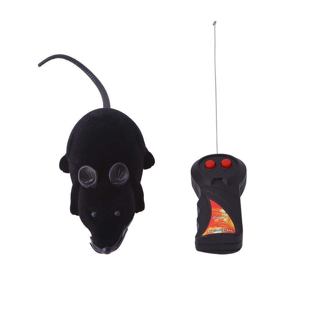Qiuxiaoaa Mascota Juguete Ratón Eléctrico Juguete Divertido RC Control Remoto Inalámbrico Ratón Ratón de Juguete para Mascota Gato Perro Jugar Showy Lindo Blanco