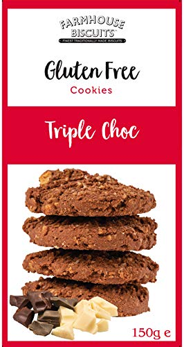 (Pack Of 12) Farmhouse Biscuits – Gluten Free Triple Choc Chip Biscuits – (150g)