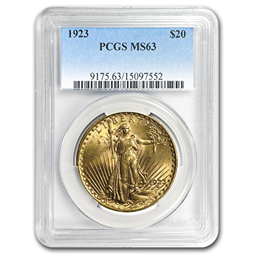 - 1923 $20 St. Gaudens Gold Double Eagle MS-63 PCGS G$20 MS-63 PCGS