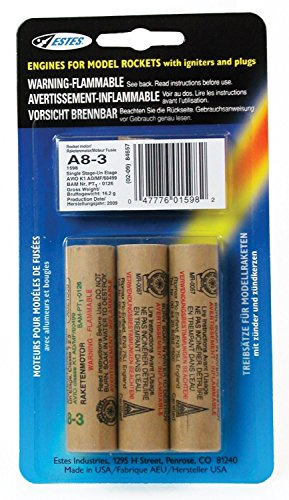 Model Rocket Kit (Estes A8-3 Engine Pack (3-Each))